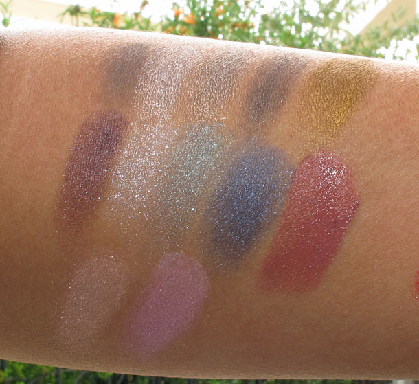 ysl northern lights collection swatches