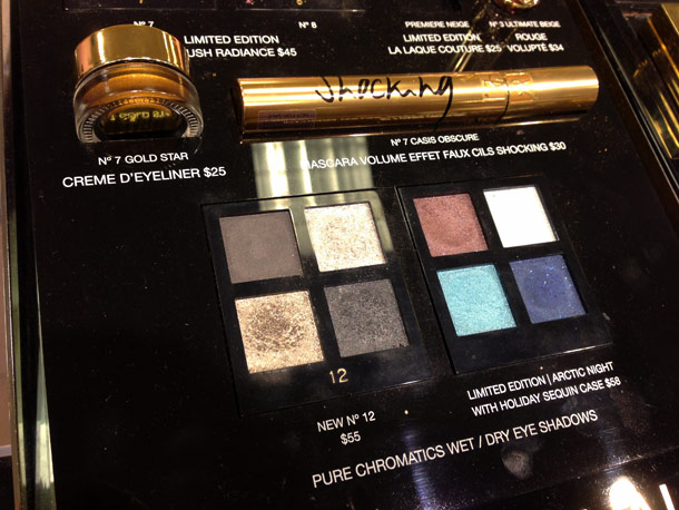yves saint laurent northern lights pure chromatics wet dry eyeshadows in no 12 and arctic night