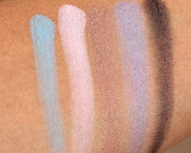 Estee Lauder Pretty Naughty Pure Color Five Color EyeShadow Palette swatches