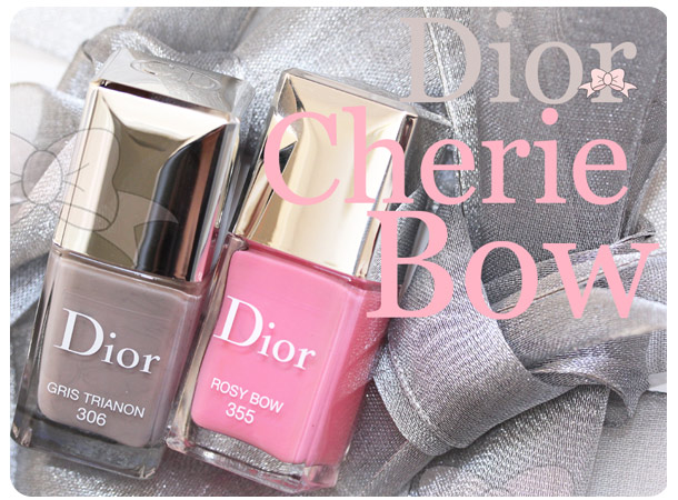 dior cherie bow gris trianon rosy bow