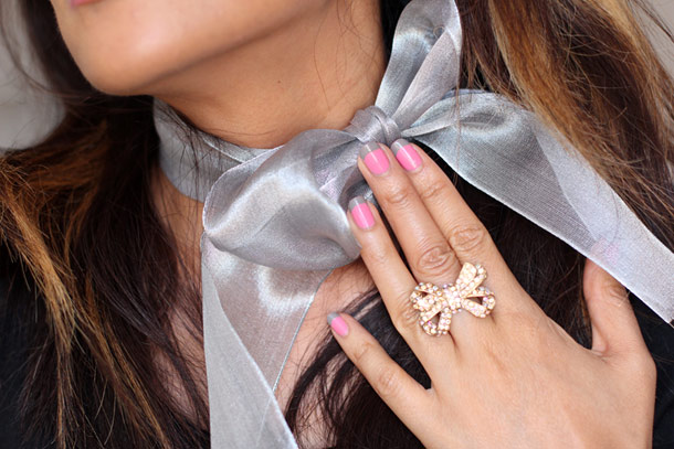Dior Gris Trianon and Rosy Bow Nail Vernis Polishes