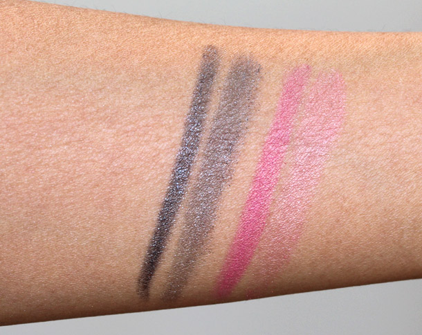 dior twin set eyeshadow duo grey sigh ballerina pink swatches 4