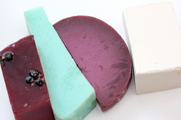 lush holiday soaps