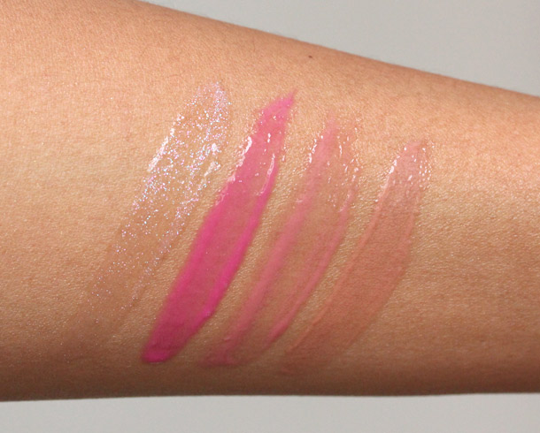 sephora mini gloss set swatches
