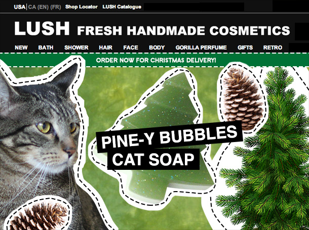Tabs for LUSH Pine-y Bubbles Cat Soap