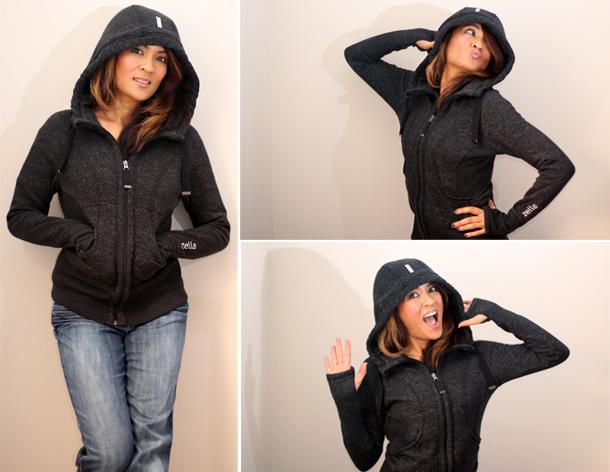 zella galaxy fleece hoodie