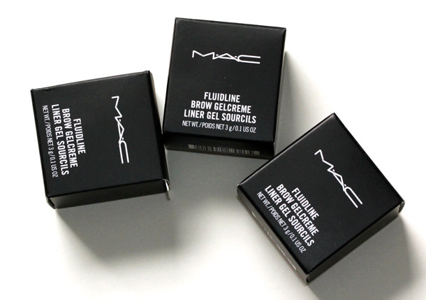 mac fluidline brow gelcreme boxes