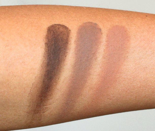 mac fluidline brow gelcreme swatches