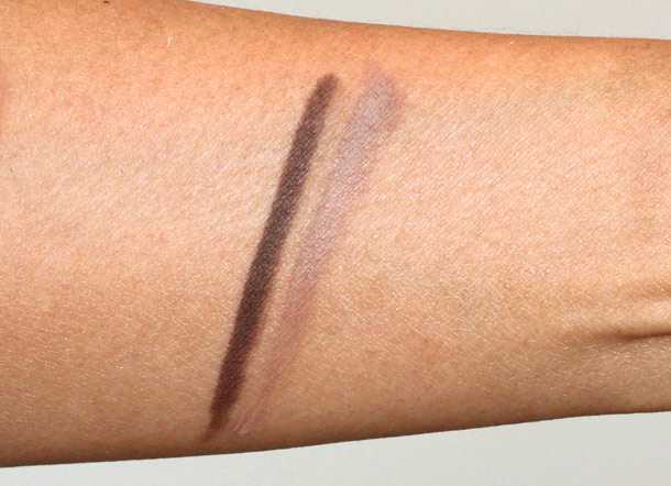 mac veluxe brow liner swatches
