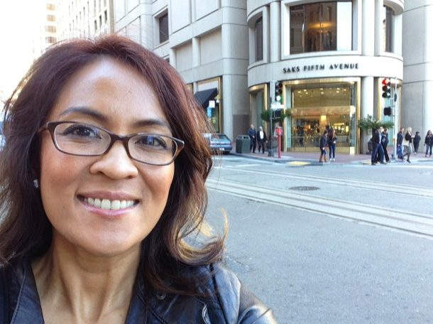 Hello from Saks Fifth Avenue in San Francisco