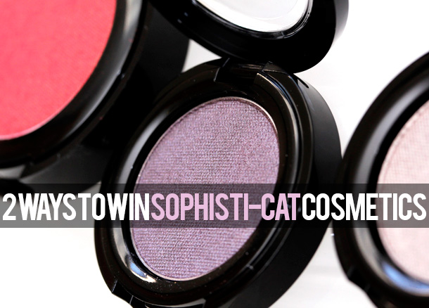 Two Ways to Win a Sophisti-Cat Cosmetics Prize Package