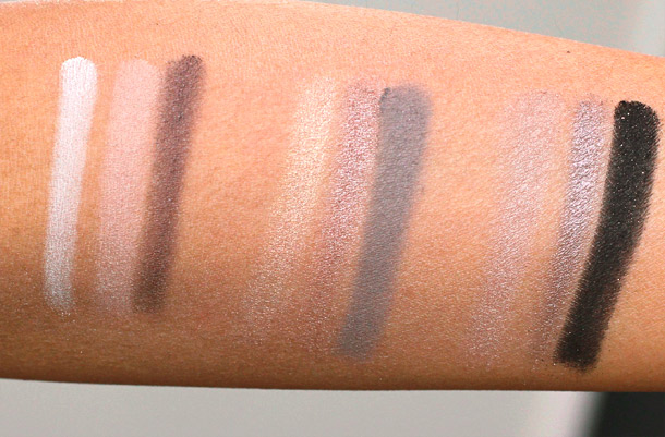 too faced boudoir eyes swatches