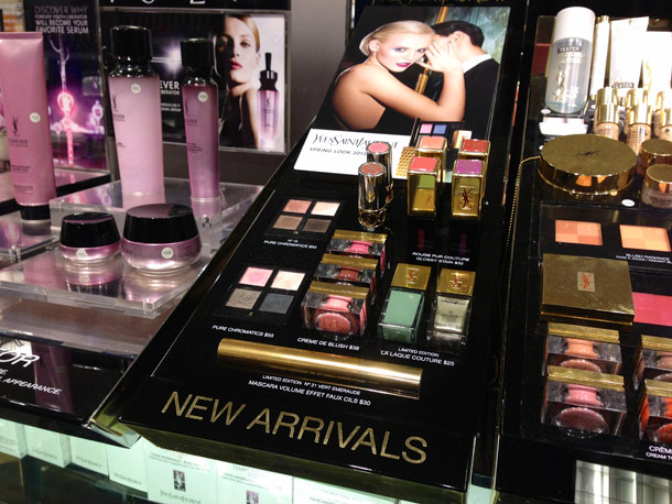 ysl spring 2013 makeup collection full display
