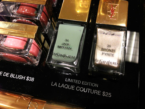 ysl spring 2013 makeup collection jade imperial bronze pyrite