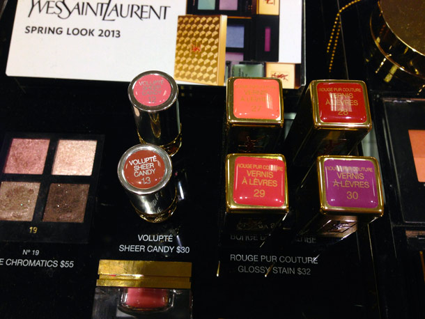 ysl spring 2013 makeup collection lipsticks gloss