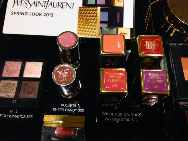 ysl spring 2013 makeup collection lipsticks gloss