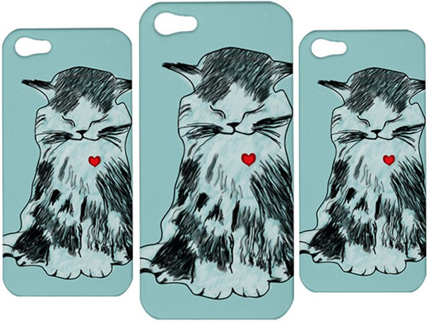 1 Cat With Heart iphone 5 Case