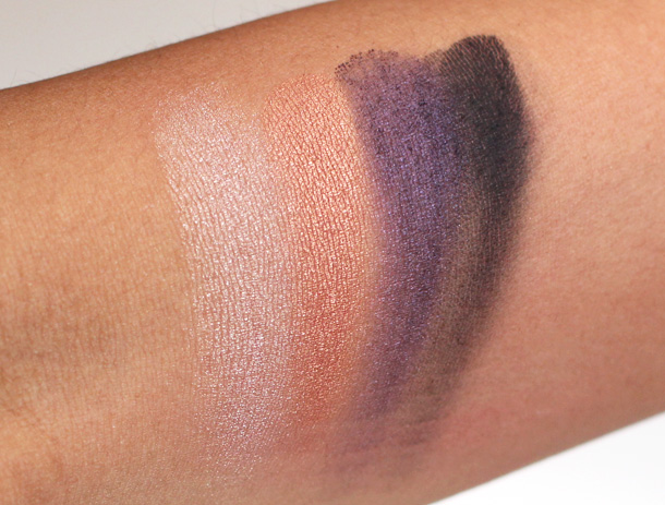 MAC Year of the Snake Swatches, Large Eyeshadows in Once Upon a Time, Aztec Brick, Altered State and Carbon