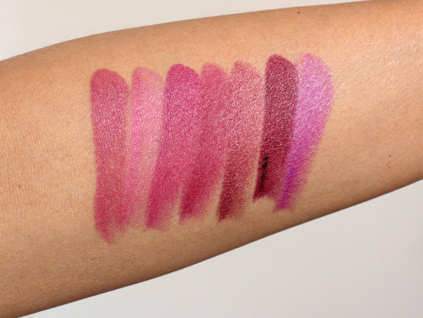 Milani Color Statement Lipstick swatches plums berries