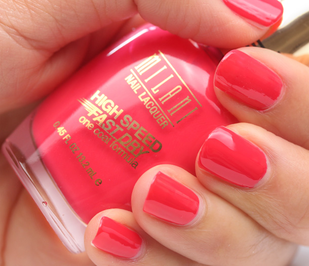 Milani High Speed Fast Dry in Flaming Race Swatch