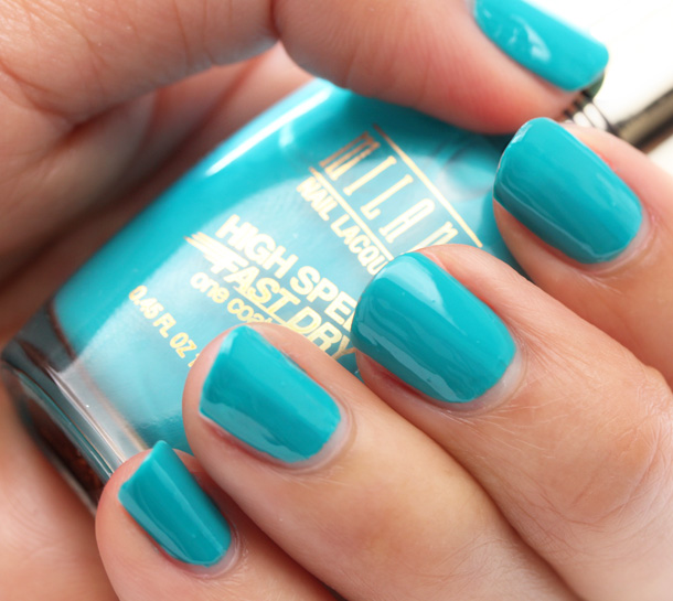 Milani High Speed Fast Dry in Quick Teal Swatch