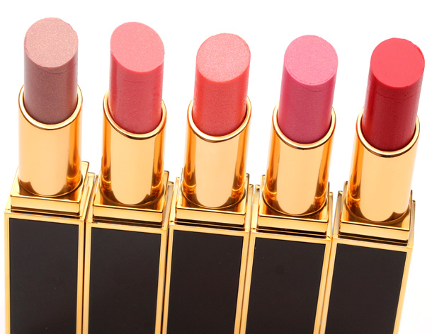 Tom Ford Lip Color Shines in Bare, Frolic, Insidious, Quiver and Willful