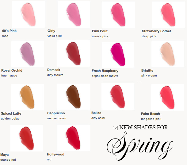 Laura Mercier Creme Smooth Lip Colour spring 2013