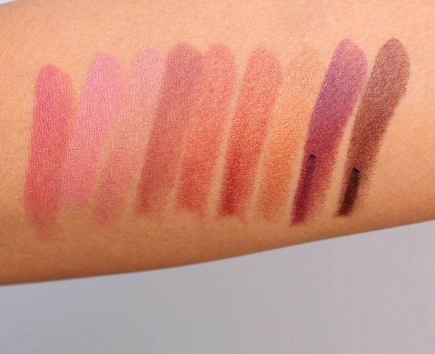 Milani Color Statement Lipstick Swatches Naturals and Browns