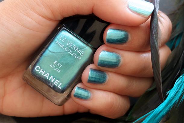 Chanel Azure Nail Polish Swatch