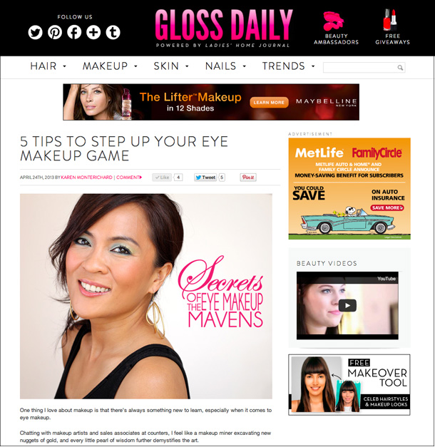 Gloss Daily Secrets of the Eye Makeup Mavens: 5 Tips to Step Up Your Eye Makeup Game