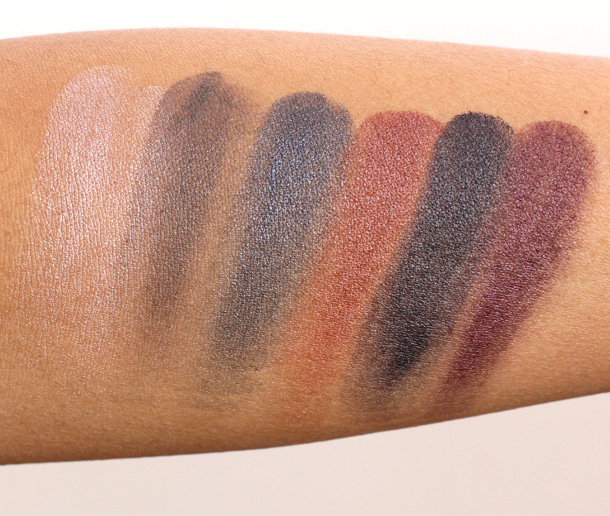 MAC Fall 13 Forecast Eyes Swatches