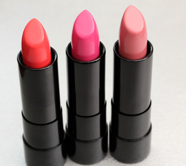 bareMinerals Marvelous Moxie Lipsticks in Light It Up, Never Say Never and Speak Your Mind
