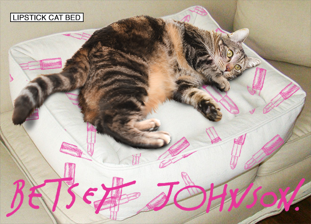 Tabs for the Betsey Johnson Lipstick Cat Bed