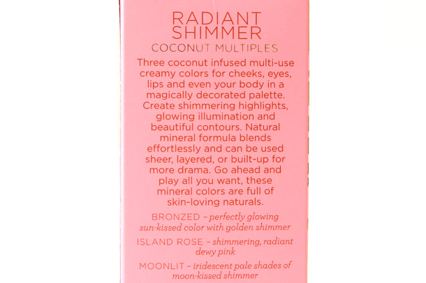 Pacifica Radiant Shimmer Coconut Multiples Packaging