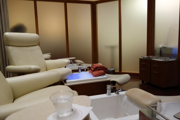 Terranea Spa Review pedicure area