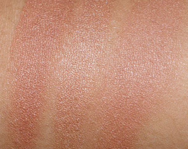 Too Faced Bronzers Swatches from the left: Beach Bunny, Snow Bunny and Sun Bunny