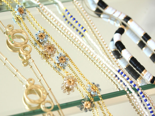 anthropologie layering necklaces