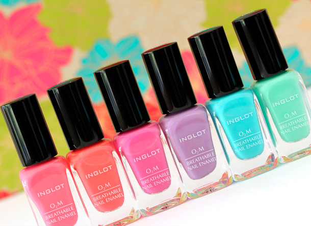 Inglot O2M Nail Enamels Review and Swatches