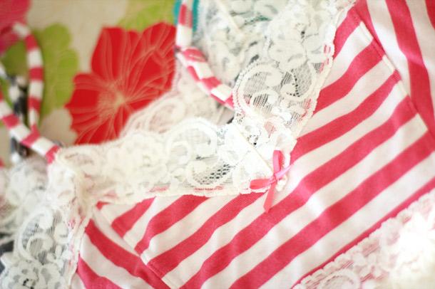 Kensie Jamie Bralette Stripes 2