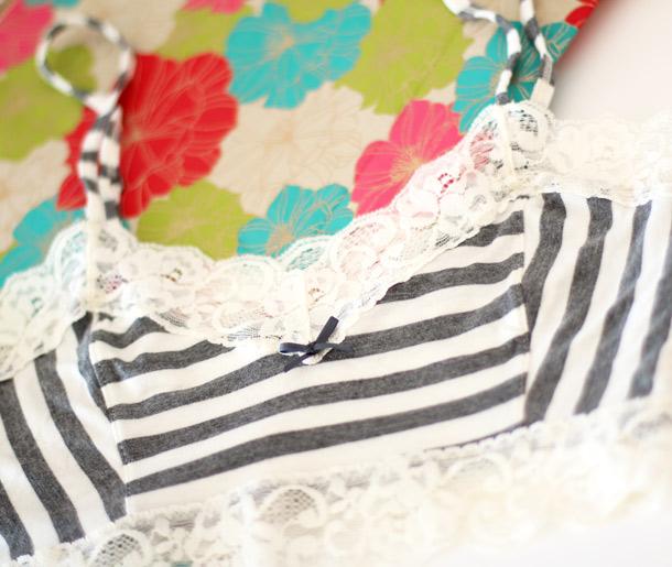 Kensie Jamie Bralette Stripes