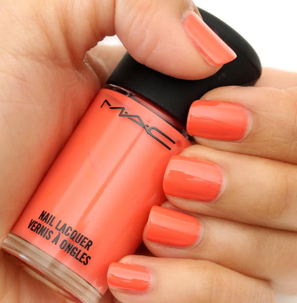 MAC All About Orange Nail Polish Swatches, Pictures, Review