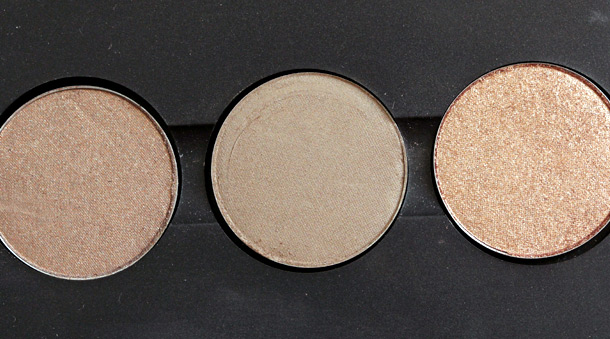 MAC Eye Shadows in Honesty, Era and Honey Lust