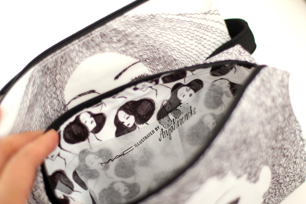 MAC Illustrated Bag by Anja Kroencke, inside lining