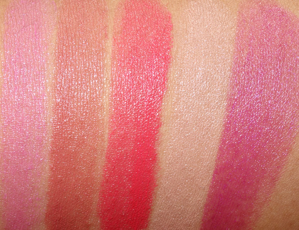 MAC Tropical Taboo Swaches Mineralize Rich Lipstick