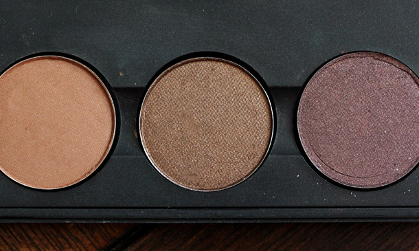 MAC Eye Shadows in Texture, Bronze and Twinks