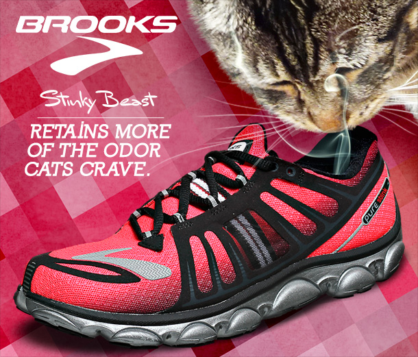 Tabs for the Brooks Stinky Beast Running Shoe