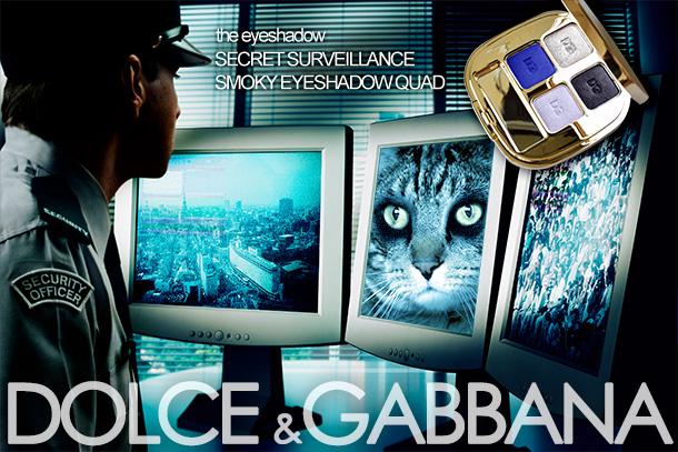 Tabs for the Dolce & Gabbana Secret Surveillance Smoky Eyeshadow Quad