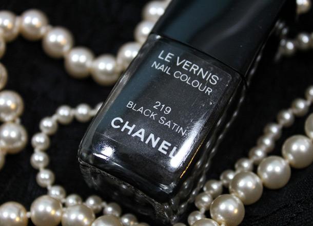 Chanel Black Satin Nail Polish
