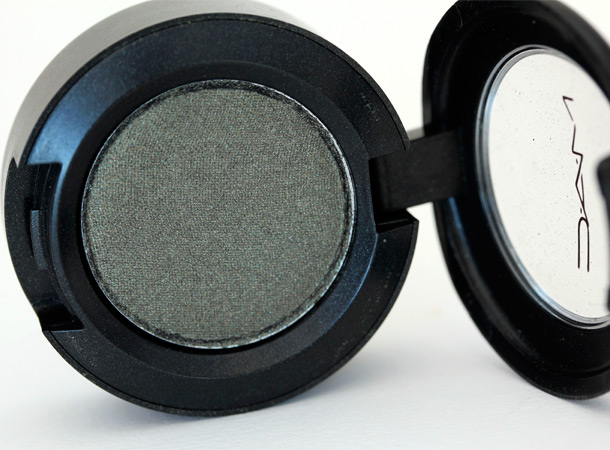 MAC Fiction Eye Shadow, a shimmery muted green with a frost finish from the Colour Abstractions/Additions collection (1997)