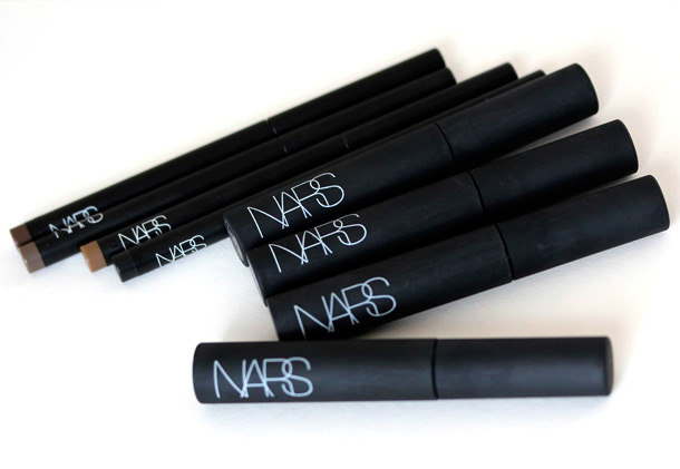 NARS Brow Perfectors on the left and Brow Gels on the right